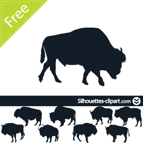 Native american buffalo clipart free silhouette clip royalty free library buffalo vector silhouette | silhouettes clipart | bead ... clip royalty free library