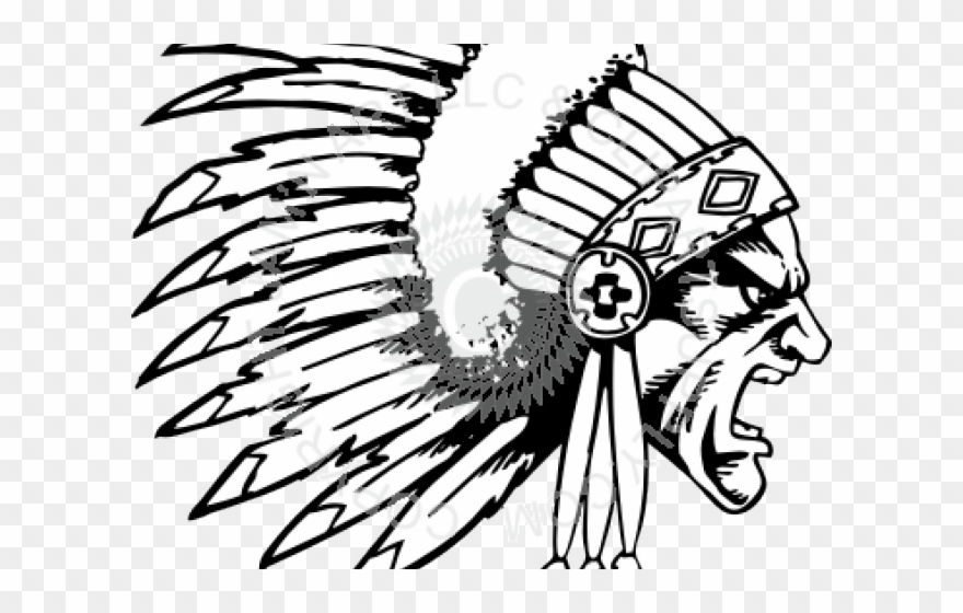 Native american chief clipart vector freeuse download Headdress Clipart Chief State - Drawing Of Native American ... vector freeuse download