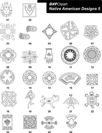 Native american designs clipart picture library library DXF Native American Designs 5 – DXF Clipart picture library library