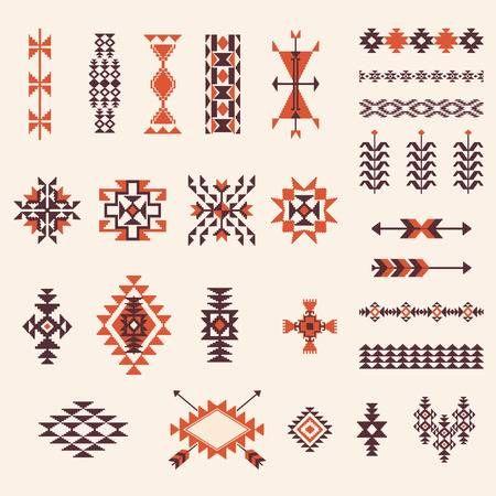 Native american designs clipart library Stock Vector | Art | Navajo pattern, Native american ... library