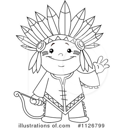 Native american indian clipart black and white free