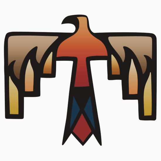 Native american thunderbird clipart