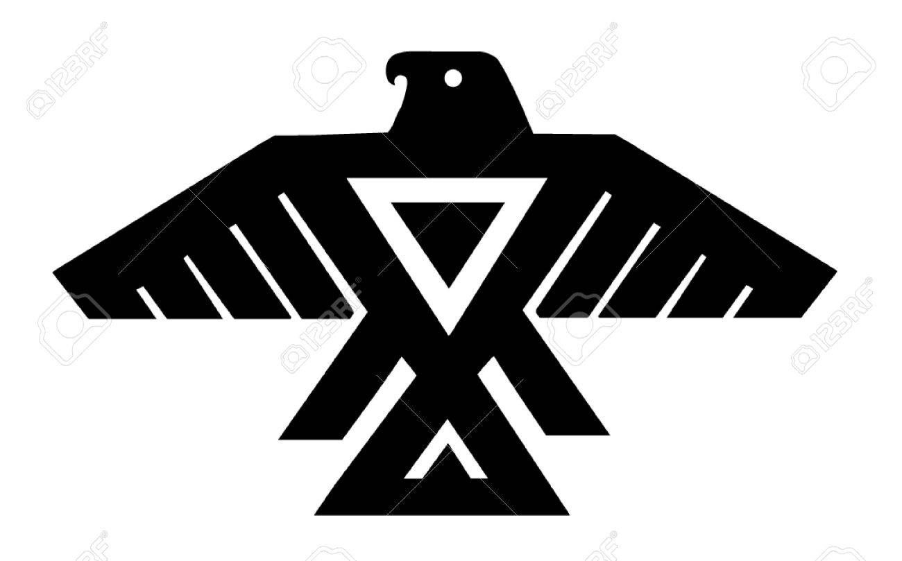 Native american thunderbird clipart clipart freeuse download American Indian Thunderbird Totem Royalty Free Cliparts ... clipart freeuse download