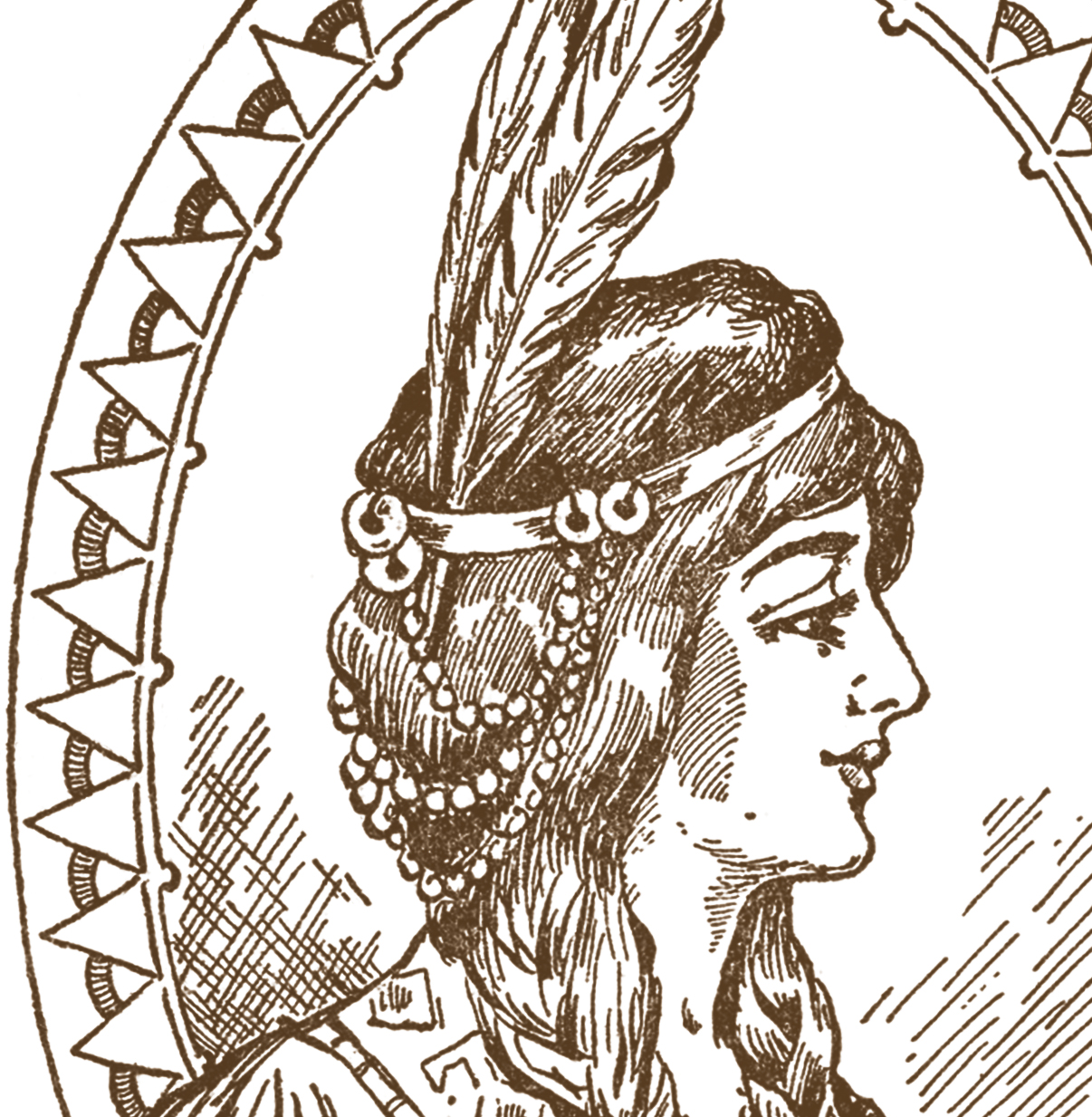 Native american woman headdress clipart black and white graphic transparent stock Native American Woman Clip Art - The Graphics Fairy graphic transparent stock