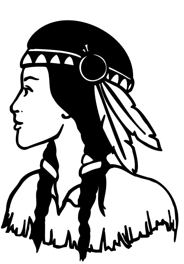 Native american woman headdress clipart black and white graphic royalty free library Native Americans in the United States Woman Clip art - only ... graphic royalty free library