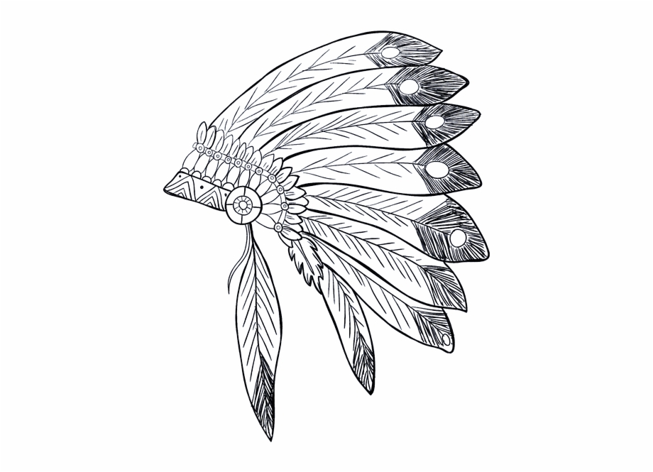 Native american woman headdress clipart black and white image freeuse download Indian Native American Tribe Feathers Chief - Native ... image freeuse download
