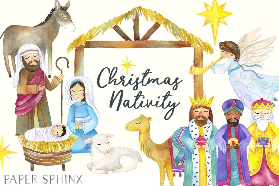 Nativity pictures clipart graphic royalty free library Christmas Nativity Clipart graphic royalty free library