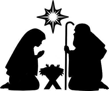 Nativity clipart black and white png free library Nativity black and white nativity clipart silhouette faces ... png free library