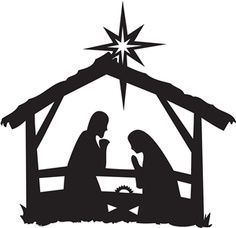 Nativity clipart black and white png library download Free Nativity Black Cliparts, Download Free Clip Art, Free ... png library download