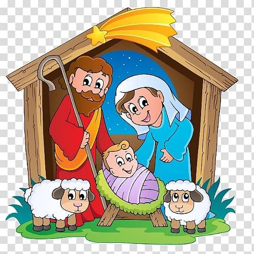 Nativity cartoon clipart