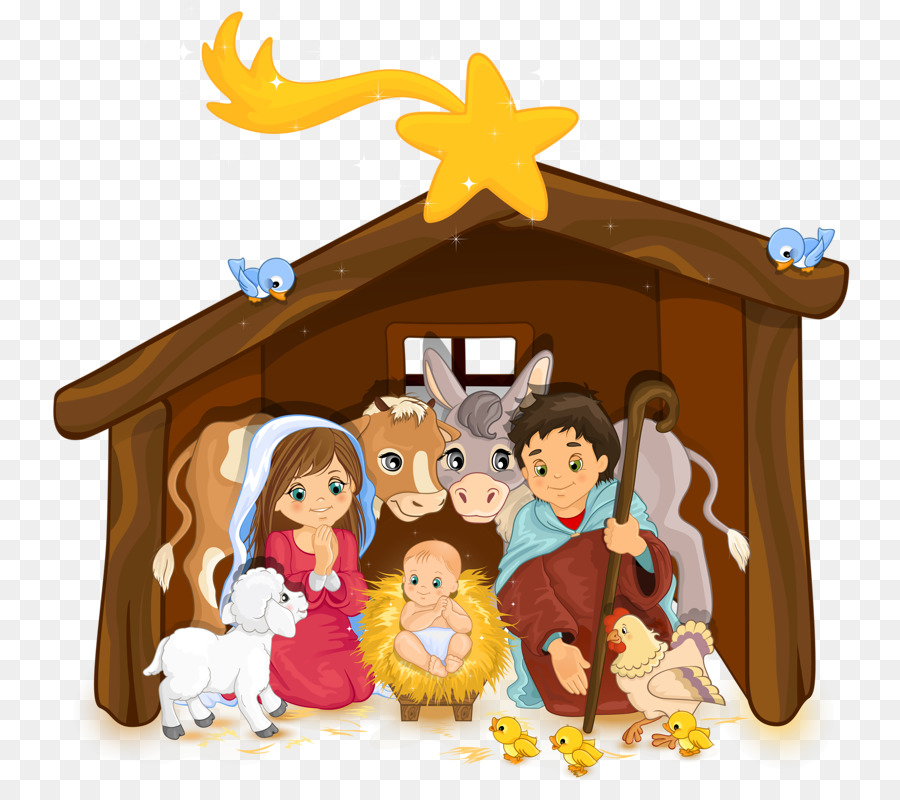 Nativity cartoon clipart svg transparent library Christmas Decoration Cartoon clipart - Graphics ... svg transparent library