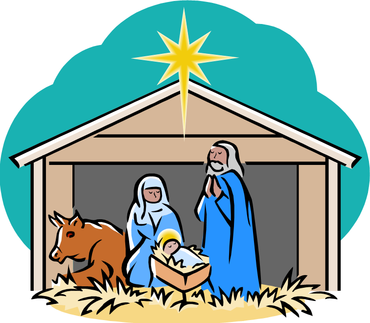 Nativity christmas clipart clip art black and white library nativity | Fifth Avenue United Methodist Church clip art black and white library