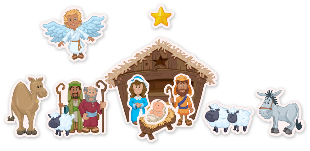 Nativity christmas clipart clip art freeuse library December - Play w/Nativity Set — Parentstuf clip art freeuse library