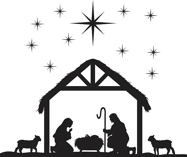 Nativity clipart black and white picture royalty free stock Nativity clipart black white 2 » Clipart Portal picture royalty free stock