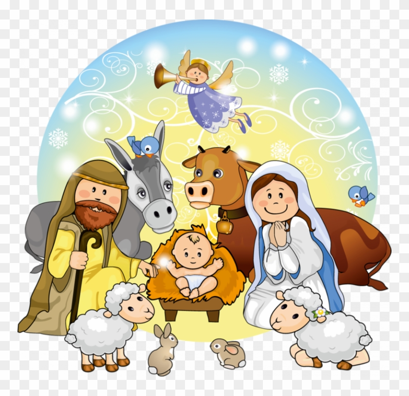 Manger Svg Nativity Scene - Cute Nativity Scene Clipart, HD ... banner freeuse