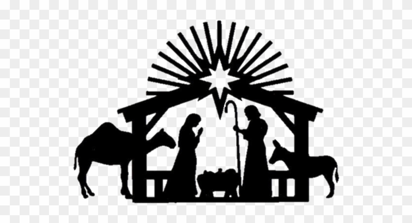 Nativity scene clipart black white graphic transparent stock Jcba Annual Christmas Banquet For Ministers And Spouses ... graphic transparent stock