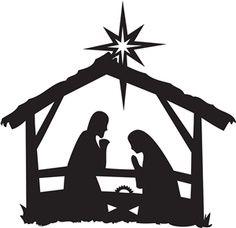 Nativity scene clipart silhouette clip black and white library Nativity Scene Silhouette | nativity silhouettes | Nativity ... clip black and white library