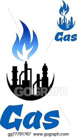 Natural gas images clipart clipart royalty free Vector Art - natural gas extraction factory icon. EPS ... clipart royalty free