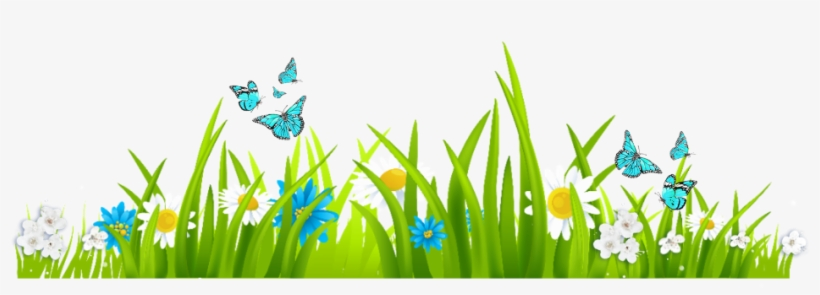 Nature clipart transparent clip art Ftestickers Nature Landscape Grass Flowers Butterdliez ... clip art