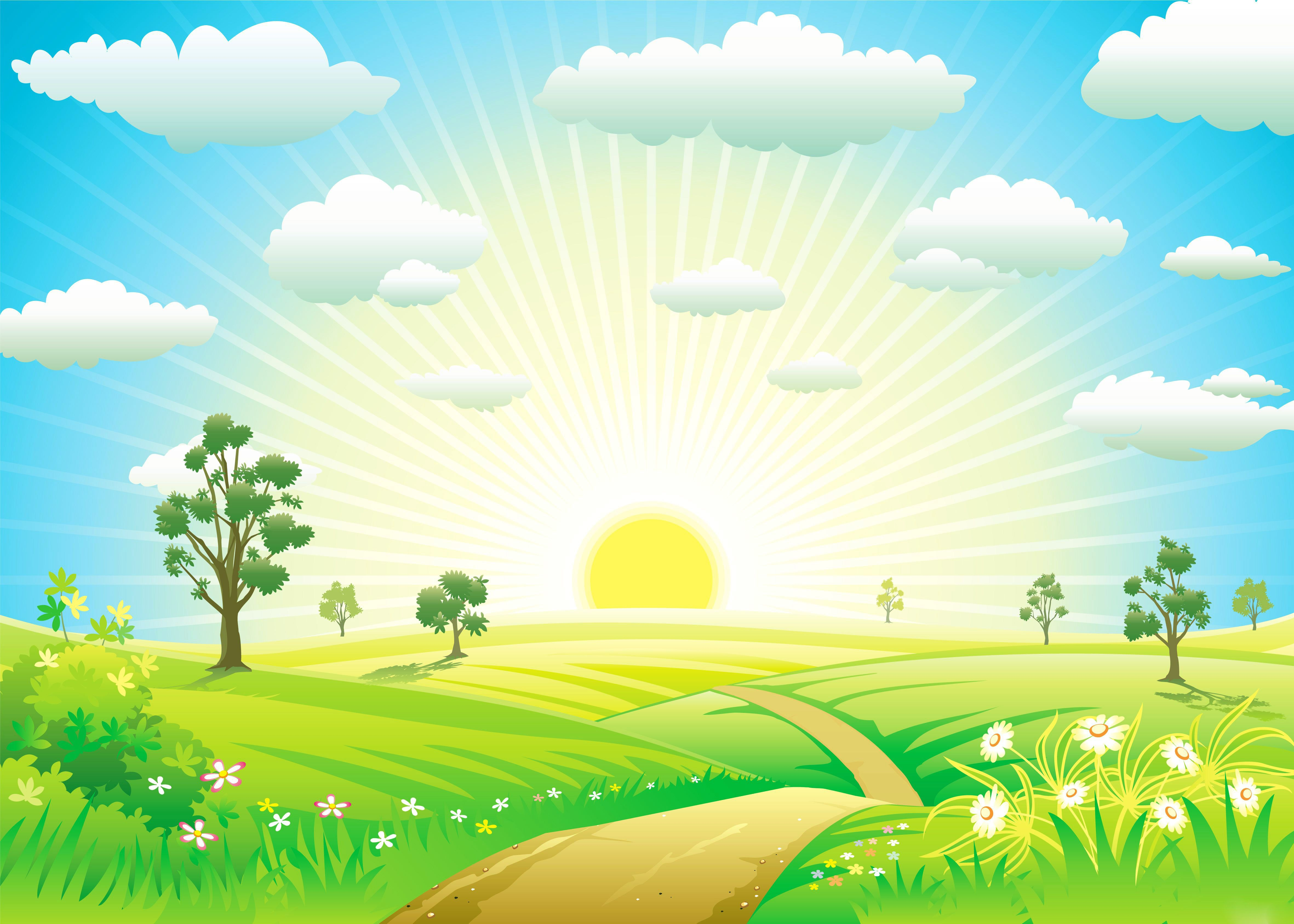 Nature clipart wallpaper clip freeuse library Kids Wallpaper | Png | Kids wallpaper, Sunrise wallpaper ... clip freeuse library