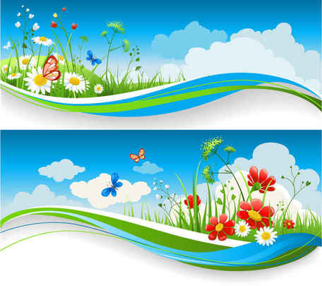 Nature vector clipart banner royalty free stock Free Peaceful Nature Vectors Clipart and Vector Graphics ... banner royalty free stock