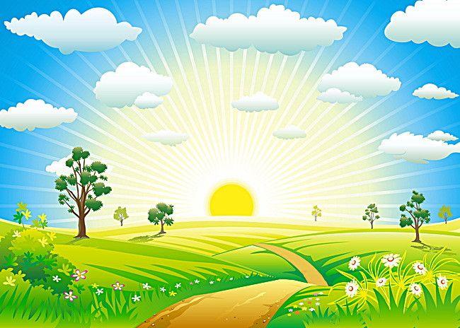 Nature vector clipart clipart download Art Design Summer Sun Background | Fair stuff | Vector free ... clipart download