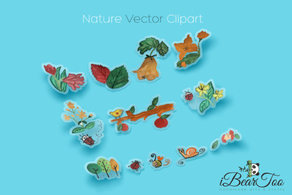 Nature vector clipart banner library library SVG Nature Vector Watercolor Clipart banner library library