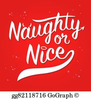 Naughty And Nice Clip Art - Royalty Free - GoGraph banner freeuse