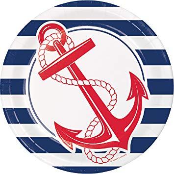 Nautical anchor clipart png transparent stock Nautical Anchor Paper Plates, 24 ct png transparent stock