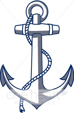 Nautical anchor clipart graphic black and white stock Anchor Clipart | Nautical Wedding Clipart graphic black and white stock