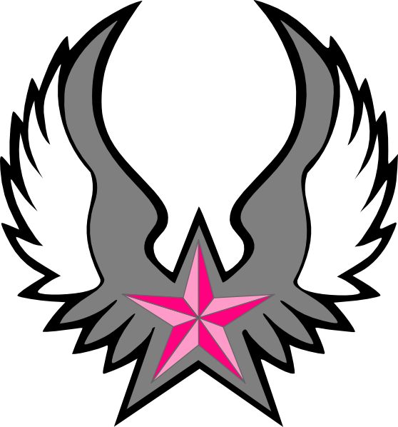 Star with wings clipart clip royalty free Pink Nautical Star Wings Clip Art at Clker.com - vector clip art ... clip royalty free