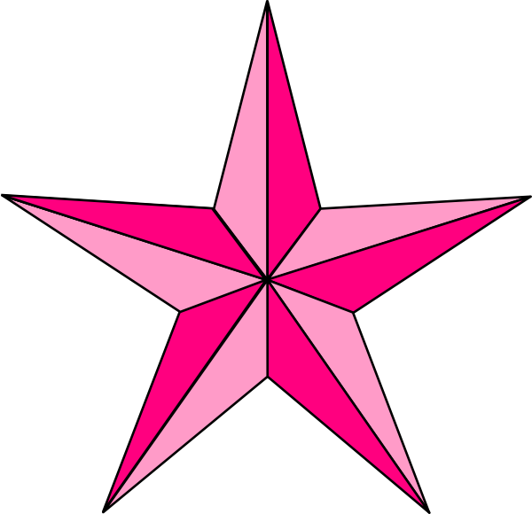 Notical star clipart graphic free download Pink Nautical Star Clip Art at Clker.com - vector clip art online ... graphic free download