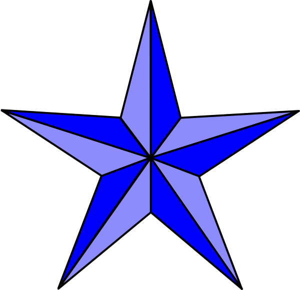 Star clipart blue picture freeuse stock Blue Nautical Star Clip Art at Clker.com - vector clip art online ... picture freeuse stock