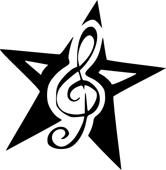 Rock star clipart banner free stock Five dots tattoo Nautical star Clip art - Picture Of G Clef 582*597 ... banner free stock