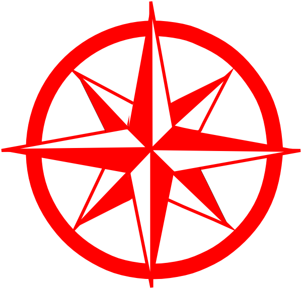 Northern star clipart clip art royalty free stock Red Compass Clip Art at Clker.com - vector clip art online, royalty ... clip art royalty free stock