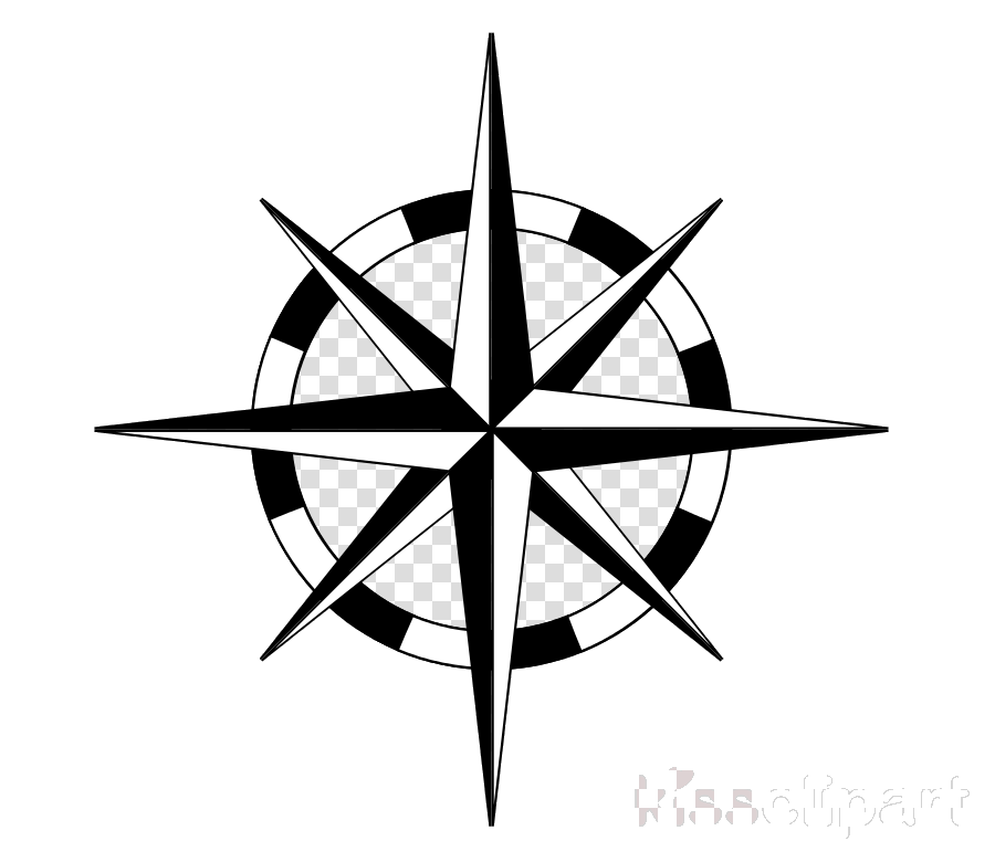 Nautical start clipart transparent black image royalty free stock Compass Nautical Star Clipart Rose Transparent Png - AZPng image royalty free stock