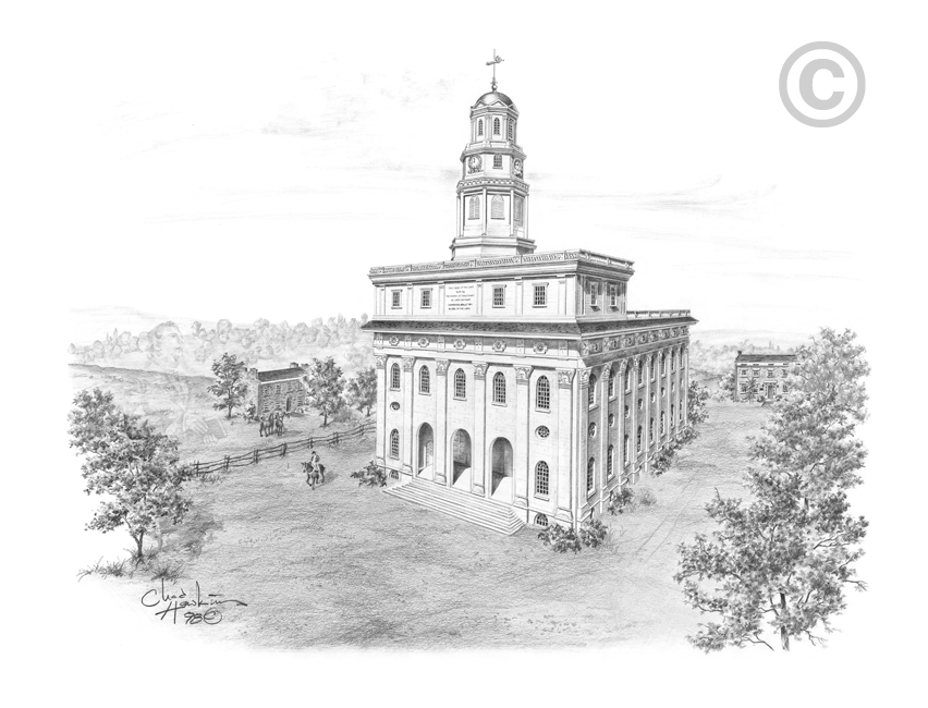 Nauvoo temple clipart png royalty free Nauvoo Illinois Temple - Sketch in Temple Prints ... png royalty free