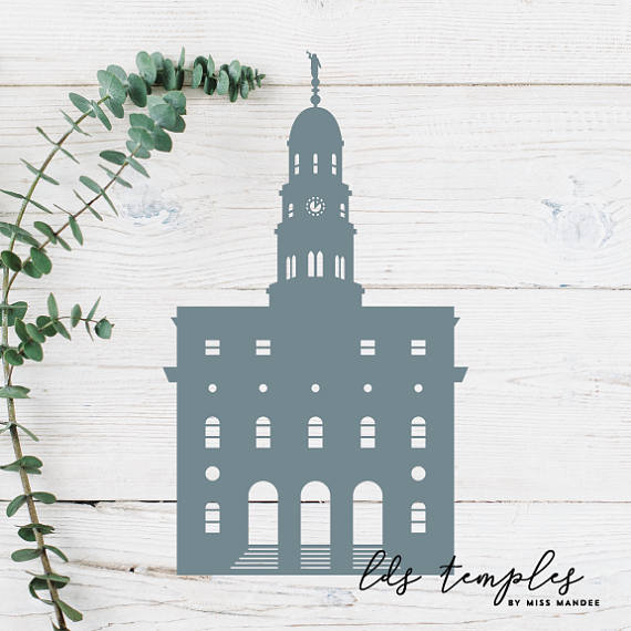 Nauvoo temple clipart jpg transparent download Nauvoo, Illinois LDS Temple Cut File - Digital Download ... jpg transparent download