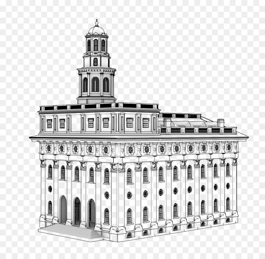 Nauvoo temple clipart vector freeuse Building Cartoon clipart - Architecture, Building, Product ... vector freeuse