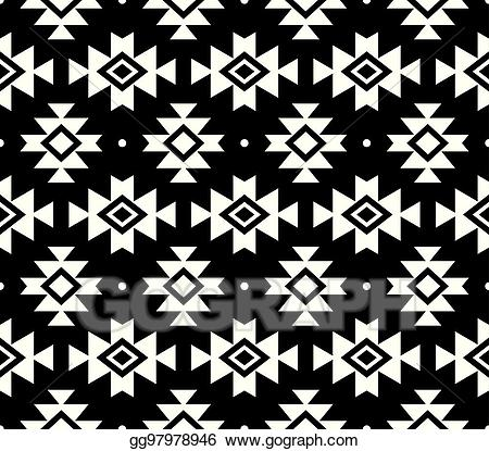 Navajo designs clipart clip art transparent download Vector Clipart - Aztec vector pattern, tribal background, navajo ... clip art transparent download