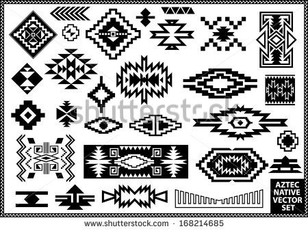 Navajo designs clipart banner freeuse Aztec Native Navajo design elements vector set - stock vector ... banner freeuse