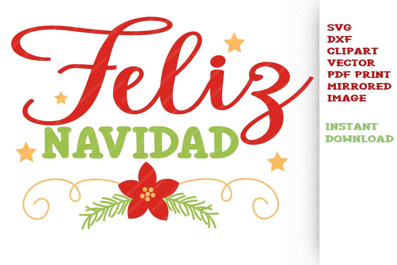 Navidad clipart svg transparent stock Feliz Navidad SVG Cut files Clipart Vector Christmas svg svg transparent stock
