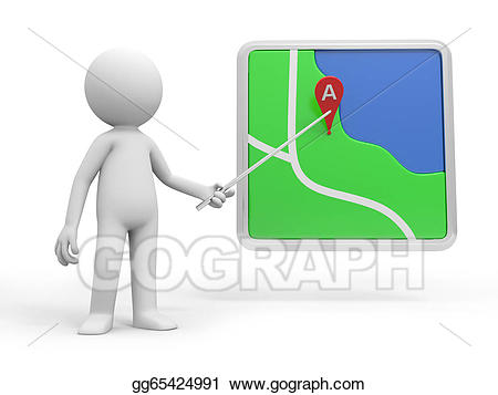 Navigator clipart black and white Stock Illustration - Navigator. Clipart Drawing gg65424991 - GoGraph black and white
