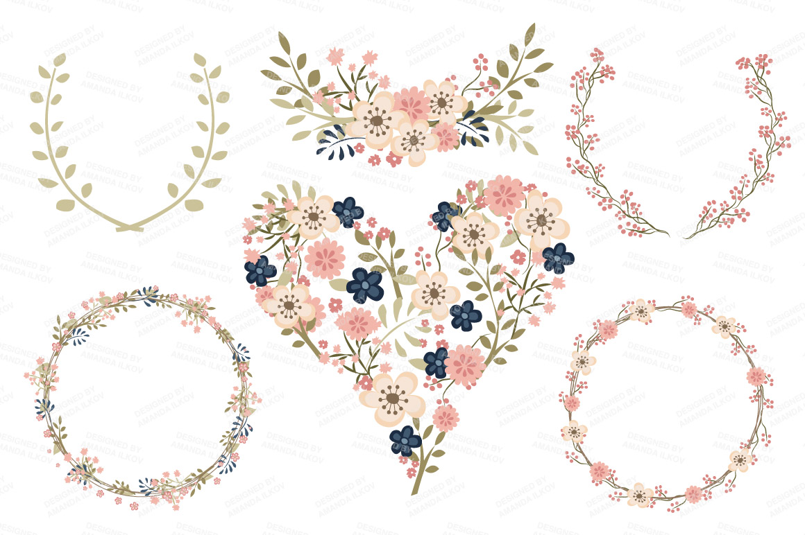 Navy blue & coral wedding hearts clipart clipart black and white stock Free Navy Floral Cliparts, Download Free Clip Art, Free Clip Art on ... clipart black and white stock