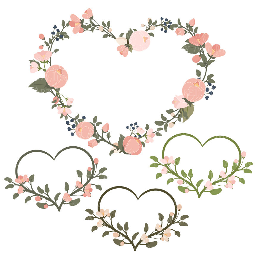 Navy blue & coral wedding hearts clipart jpg freeuse Free Navy Floral Cliparts, Download Free Clip Art, Free Clip Art on ... jpg freeuse