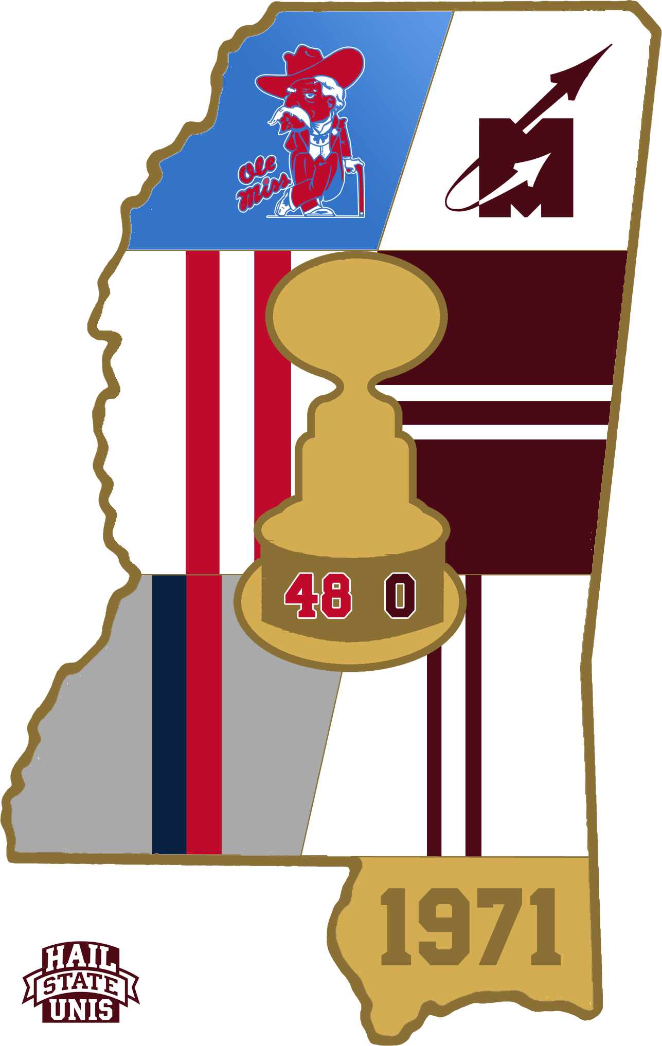 Navy blue football clipart image royalty free Egg Bowl Uniform History - Hail State Unis image royalty free