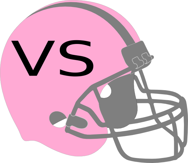 Powder puff football clipart svg transparent Pink Football Helmet Clip Art at Clker.com - vector clip art online ... svg transparent