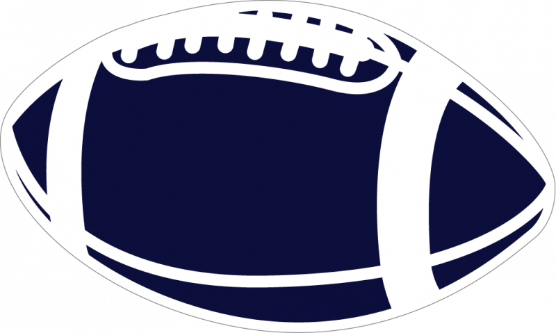 White football lace clipart png free download Football Blue Clipart png free download