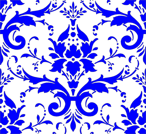Royal blue heart clipart png black and white Royal Blue Damask Clip Art at Clker.com - vector clip art online ... png black and white