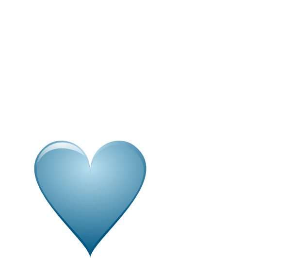 Small heart clipart free graphic black and white library Blue Heart Clip Art at Clker.com - vector clip art online, royalty ... graphic black and white library